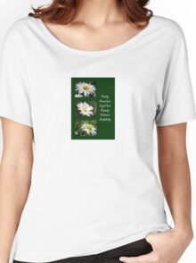 Common Daisy Collage Purity, Innocence and Love Greeting Women's Relaxed Fit T-Shirt