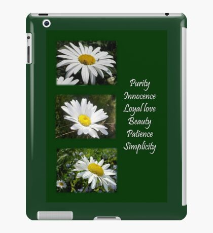 Common Daisy Collage Purity, Innocence and Love Greeting iPad Case/Skin