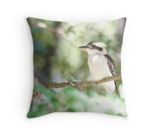 Kookaburra sits in the ole gum tree...   Throw Pillow