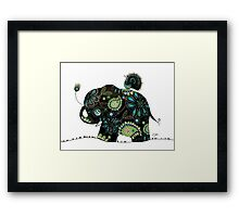 The Elephant and the Peacock Framed Print