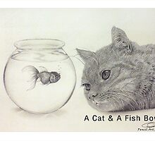 A Cat and a Fish Bowl by eworxs