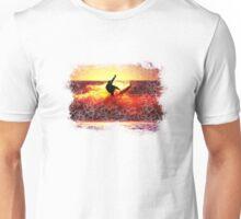 SUNSET SURFER. Unisex T-Shirt