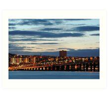 City Lights - Dundee, Scotland Art Print