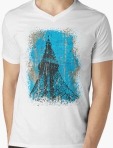 TOKYO TOWER. Mens V-Neck T-Shirt