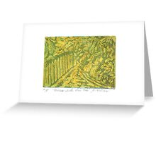 Fences with Pear Tree Greeting Card