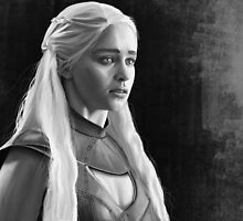 Emilia Clarke as Khaleesi BW by Richard Eijkenbroek