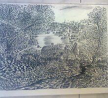 Inkwork and charcoal mixed by nayana chakraborty