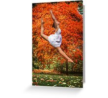 Autumn Backdrop Greeting Card