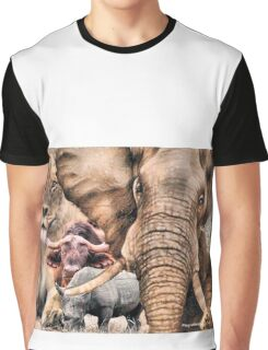 "A ""BIG 5"" TEESHIRT DESIGN, ALL THE WAY FROM AFRICA ! Graphic T-Shirt"