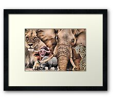 """A """"BIG 5"""" TEESHIRT DESIGN, ALL THE WAY FROM AFRICA ! Framed Print"""
