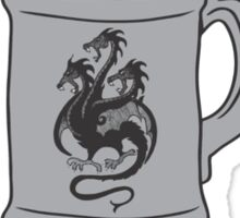 GoT Mead? 3 Headed Dragon Stein & Quote Sticker