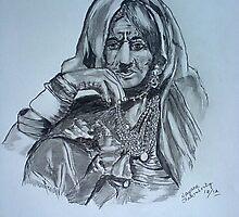 Indian Tribal lady by nayana chakraborty