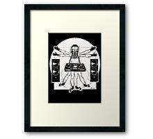 VITRUVIAN ALIEN DJ T-SHIRT Framed Print