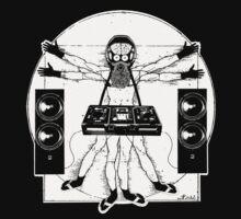 VITRUVIAN ALIEN DJ T-SHIRT by Miskel Design
