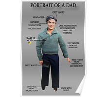 PORTRAIT OF A DAD HUMOUR PICTURE/CARD Poster