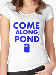 Come alond, Pond (With TARDIS)  Women's Fitted Scoop T-Shirt