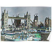 River Thames Sketch Poster