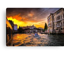 Evening - Grand Canal Canvas Print