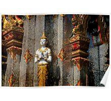 Silver Buddha Poster