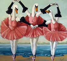 Swan Lake fantasy by LindaAppleArt