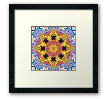 The Sunshine Kaleidoscope, abstract fractal wallart Framed Print