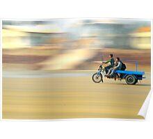 speed on beach Poster