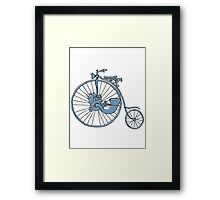 Steam Punk Penny Farthing Framed Print