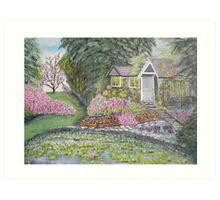 English Cottage Art Print