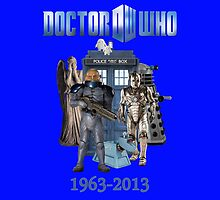 Dr Who 50th Anniversary (Blue) by Marjuned