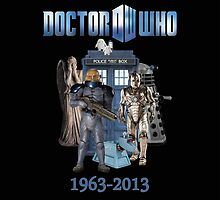 Dr Who 50th Anniversary (Black) by Marjuned
