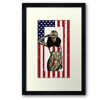 US Marines Salute Framed Print