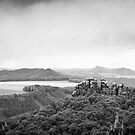 Elbsandstein Mountains - BW by lesslinear
