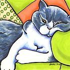 Cozy Spot - Bicolor British Shorthair by offleashart