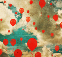 99 Red Balloons Sticker