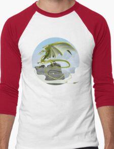 Dragon of Clouds Men's Baseball ¾ T-Shirt