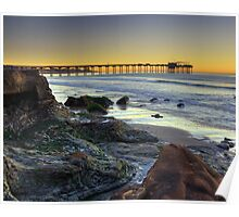 The Scripps Pier Before sunrise Poster