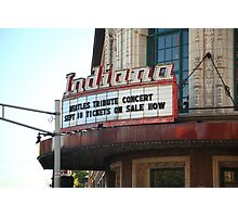 Terre Haute - Indiana Theater Photographic Print