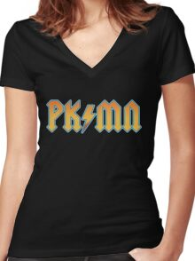 PKMN - Thunderstruck Women's Fitted V-Neck T-Shirt