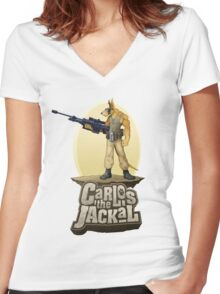 Carlos the Jackal Women's Fitted V-Neck T-Shirt