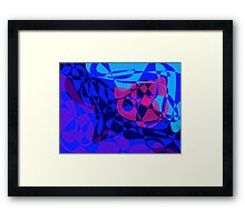 Flower and Ocean Framed Print