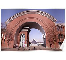 View of the Museum of Glass through the Arch of the Washington State History Museum Poster