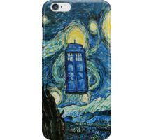 Starry Night Flying Tardis Doctor Who iPhone Case/Skin