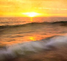 """""""Two waves at Sunrise"""" by peaky40"""