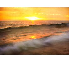 """Two waves at Sunrise"" Photographic Print"