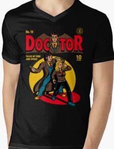 Doctor Comic Mens V-Neck T-Shirt