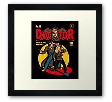 Doctor Comic Framed Print