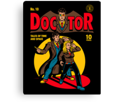 Doctor Comic Canvas Print