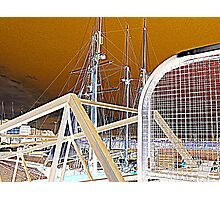 gate and masts Photographic Print