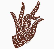 Heart Hand in Milk Chocolate, Large Version Unisex T-Shirt