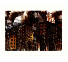 Abstract Cityscape Art Print